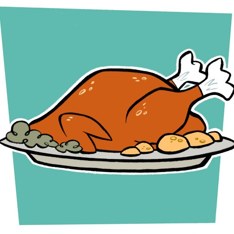 Smoked chicken dinner free clipart.