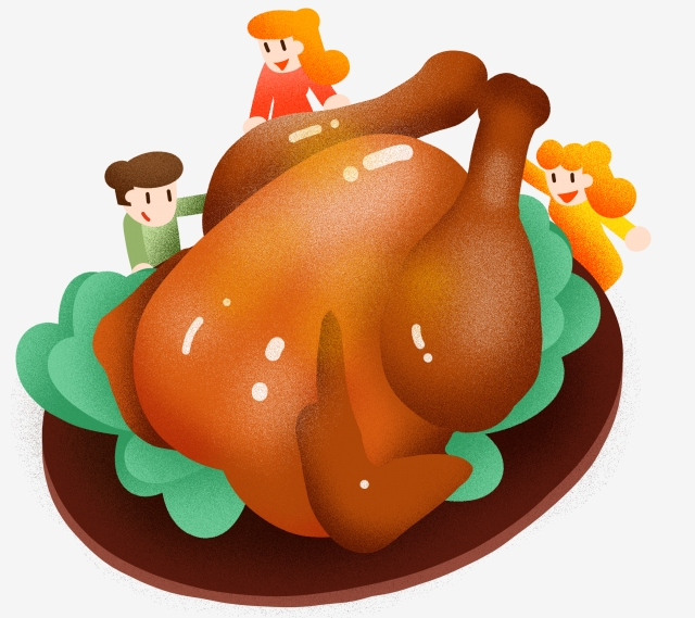 New Years Eve Delicious Smoked Chicken Illustration Chicken.