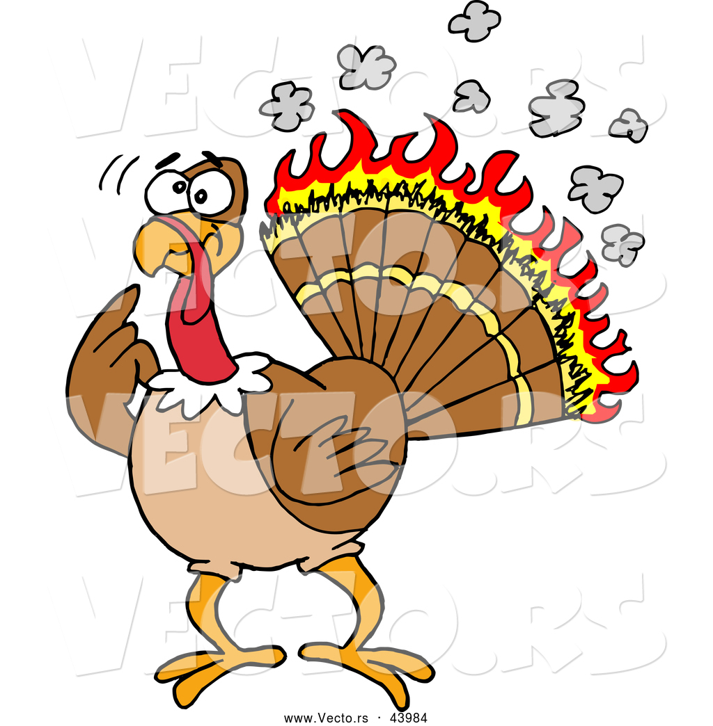 Exercising Turkey Clipart.