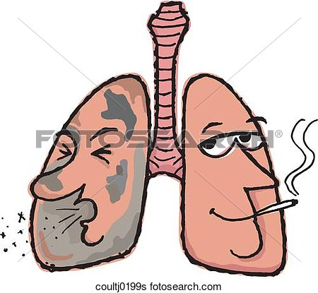 Smokers Lungs Clipart.