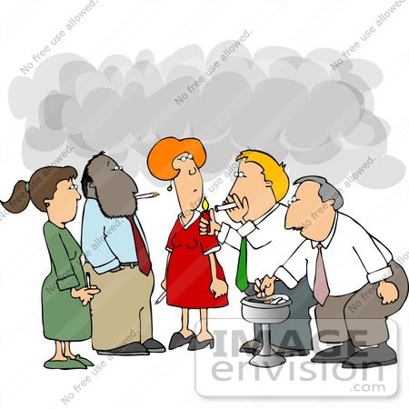 People Smoking Clipart.