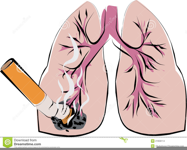 Smoking Lungs Clipart.