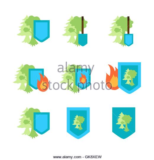 Park Smoke Tree Cut Out Stock Images & Pictures.