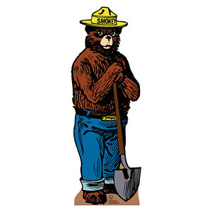 Details about SMOKEY THE BEAR Forest Service Mascot Smoky CARDBOARD CUTOUT  Standee Standup.