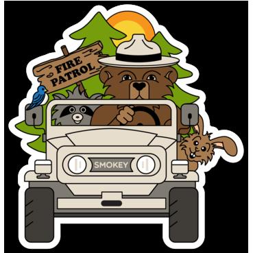 Smokey Bear Sticker.