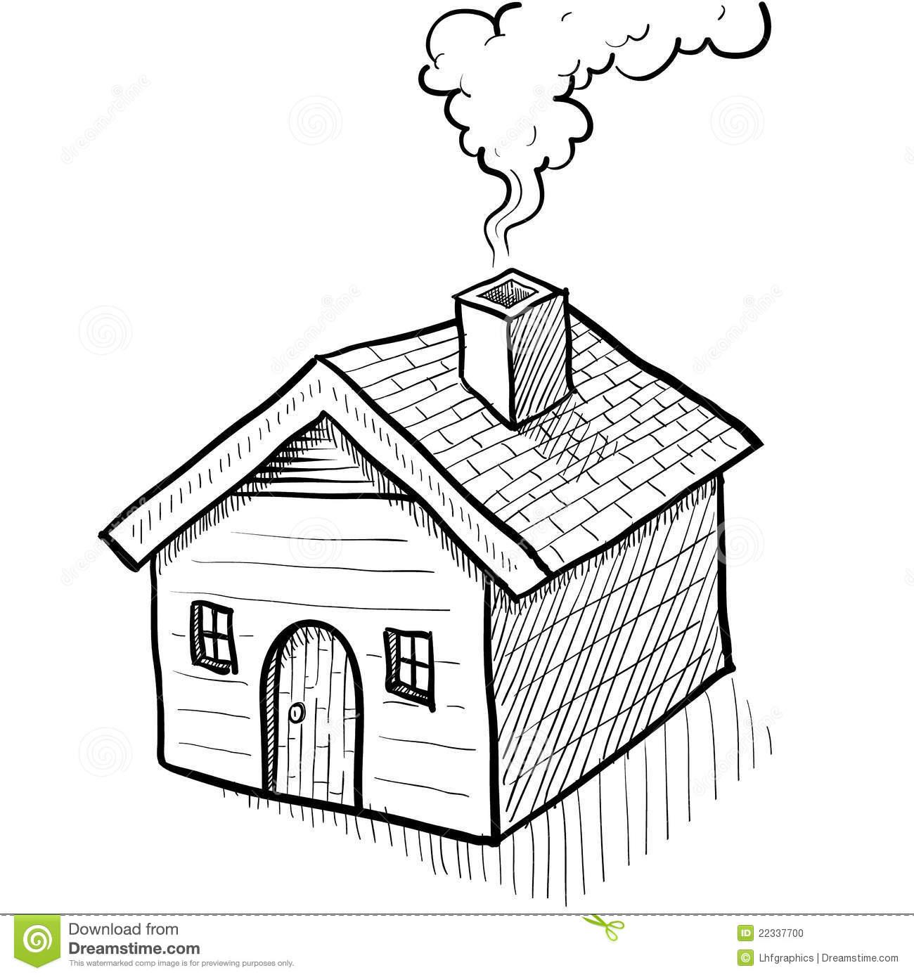 Рисуем дом и дым