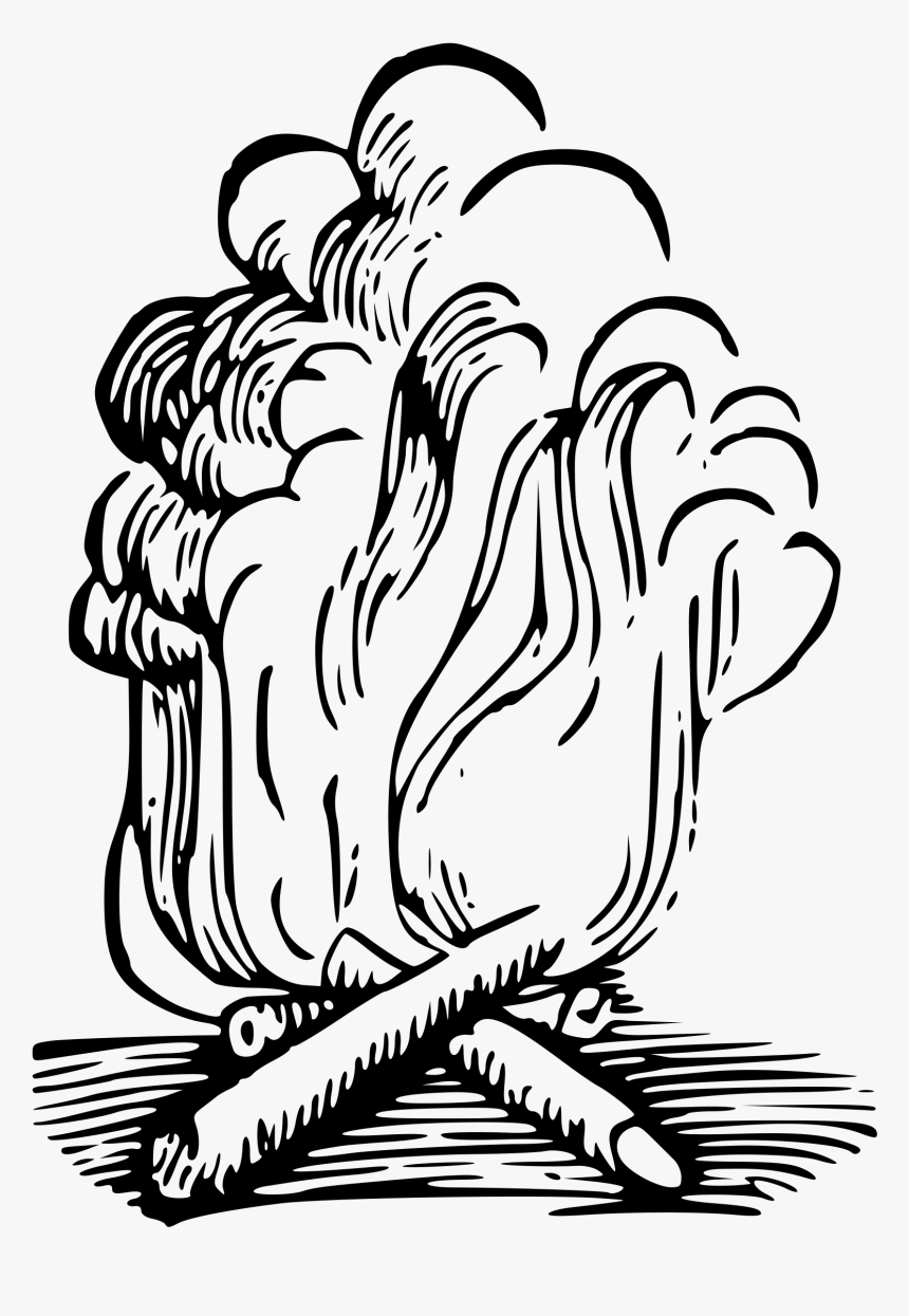 Campfire With Smoke Clip Arts.