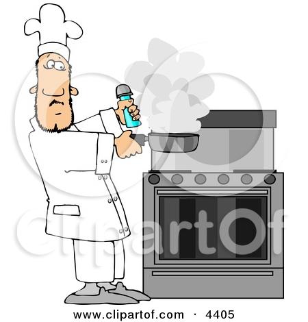 Smoking Oven Clip Art.