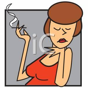 Actress Smoking a Cigarette.