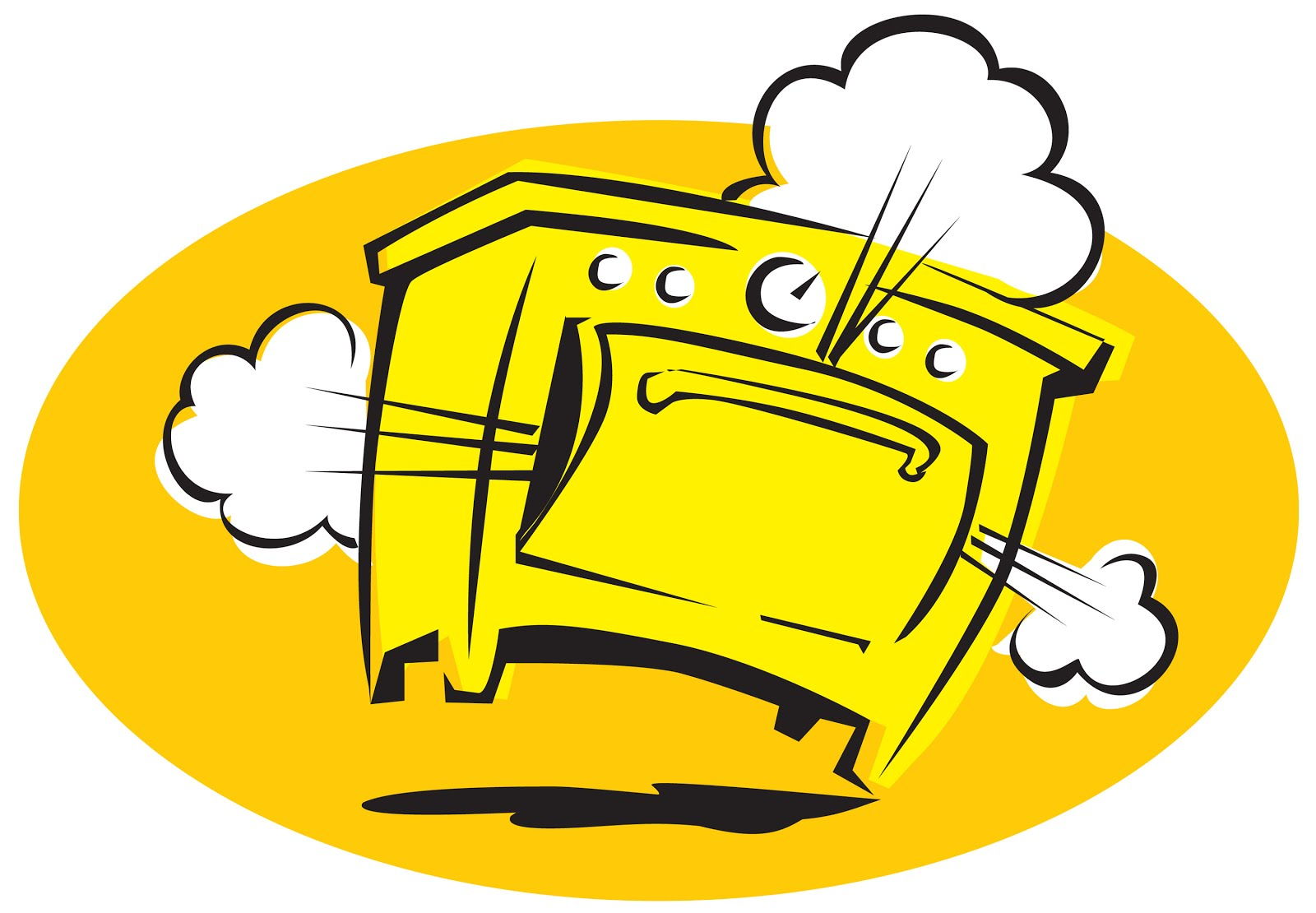 Smoking Oven Clipart Clipground