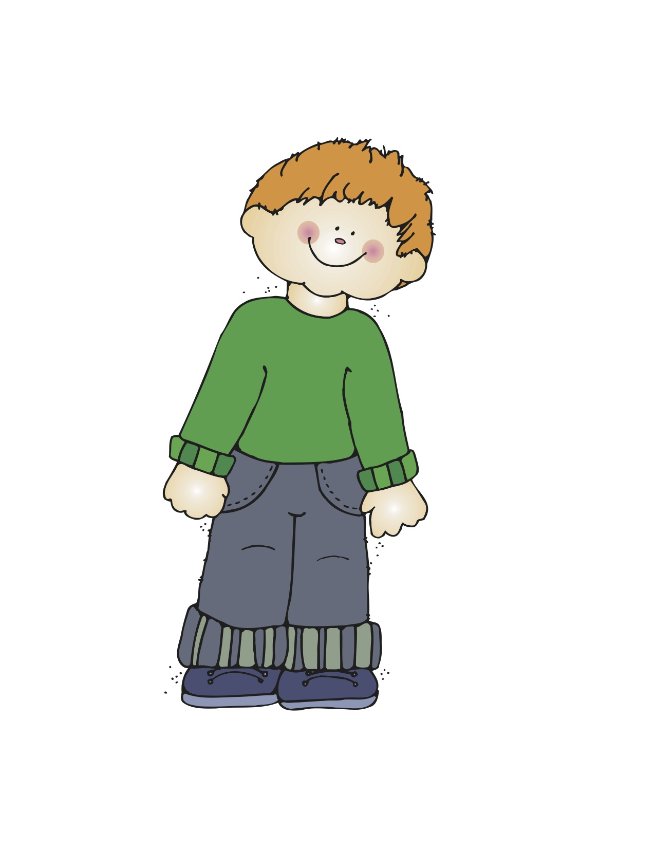 Clip Art Kid Standing On Table