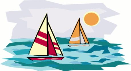 Smooth sailing clipart.