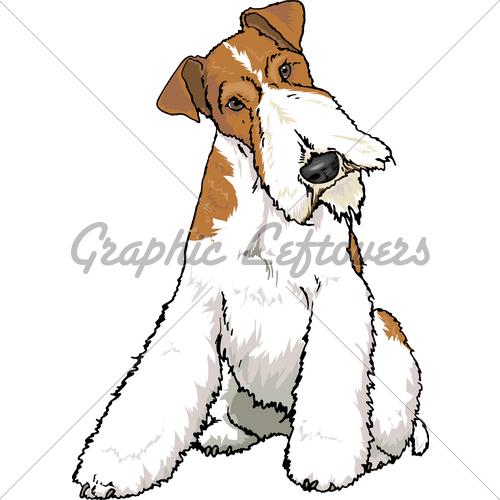 Fox terrier clipart.