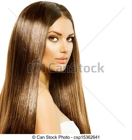 Stock Photo of Beauty Woman with Long Healthy and Shiny Smooth.