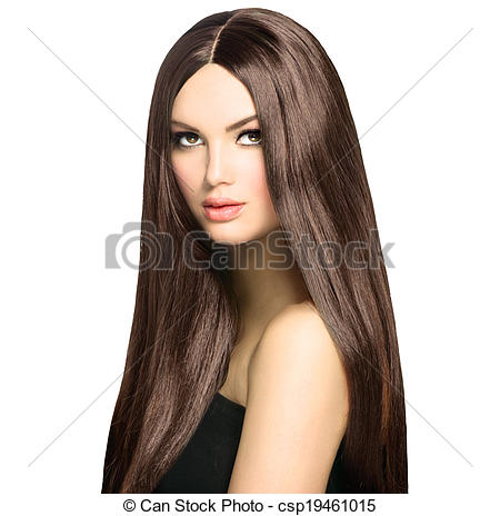 Stock Photography of Beauty Woman with Long Healthy and Shiny.