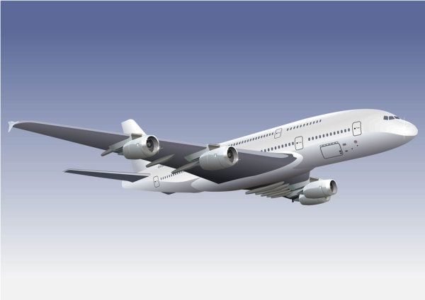 Realistic aircraft 01 vector Free vector in Encapsulated.