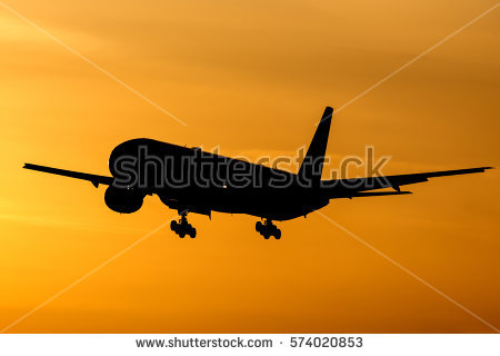 Airplane Silhouette Stock Images, Royalty.