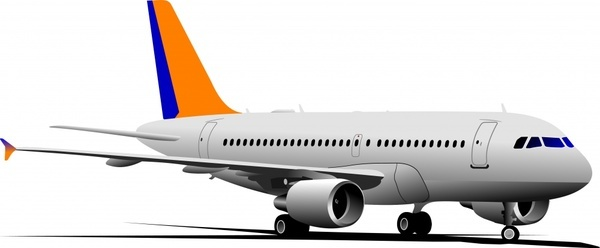 Realistic aircraft 04 vector Free vector in Encapsulated.