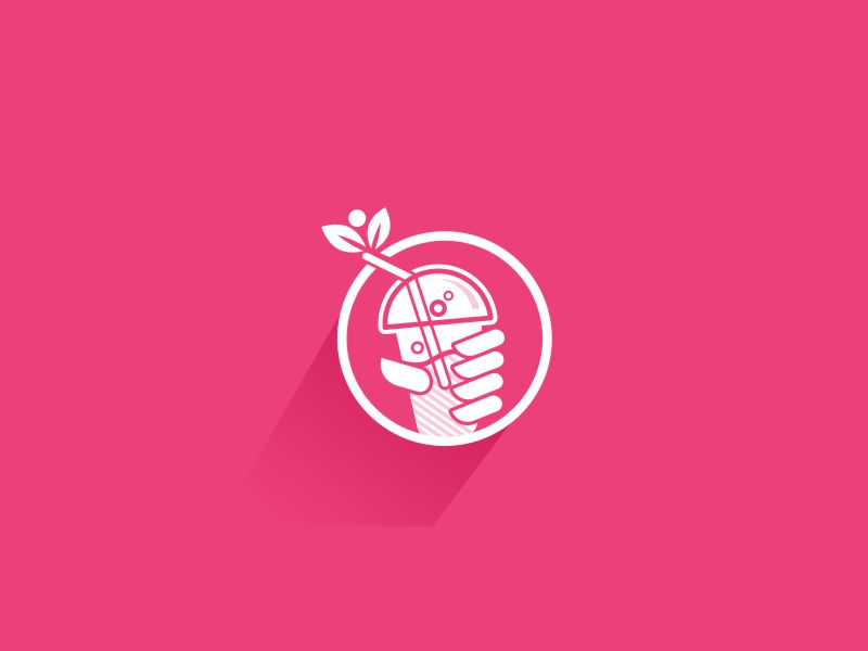 Smoothie Logo mark. by David Haralambidis on Dribbble.