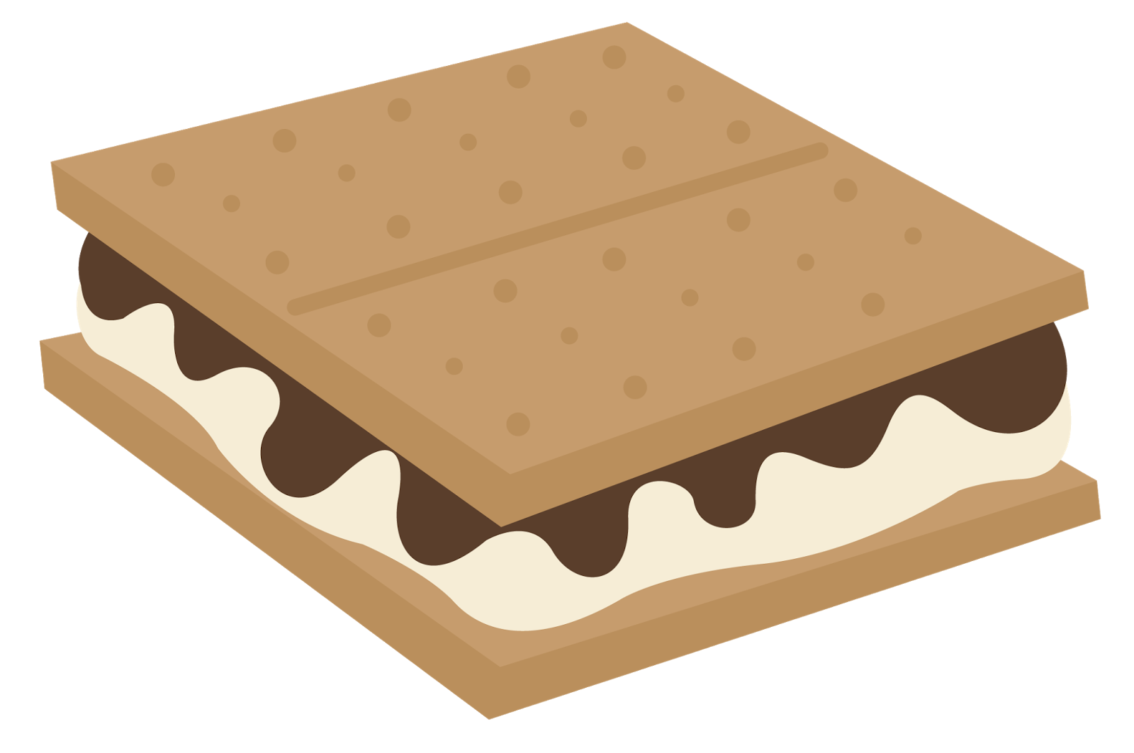 Sandwich , S\\\'more Campfire Marshmallow Graham cracker.