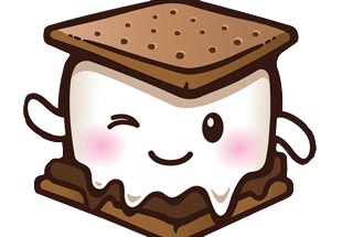 Smores Clipart Winked.