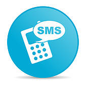 Clipart of sms blue circle web glossy icon k13728521.