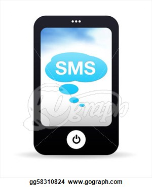 Mobile sms clipart.