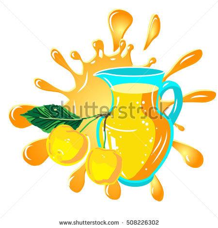 Inkblot Orange Vector Stock Vector 120880093.