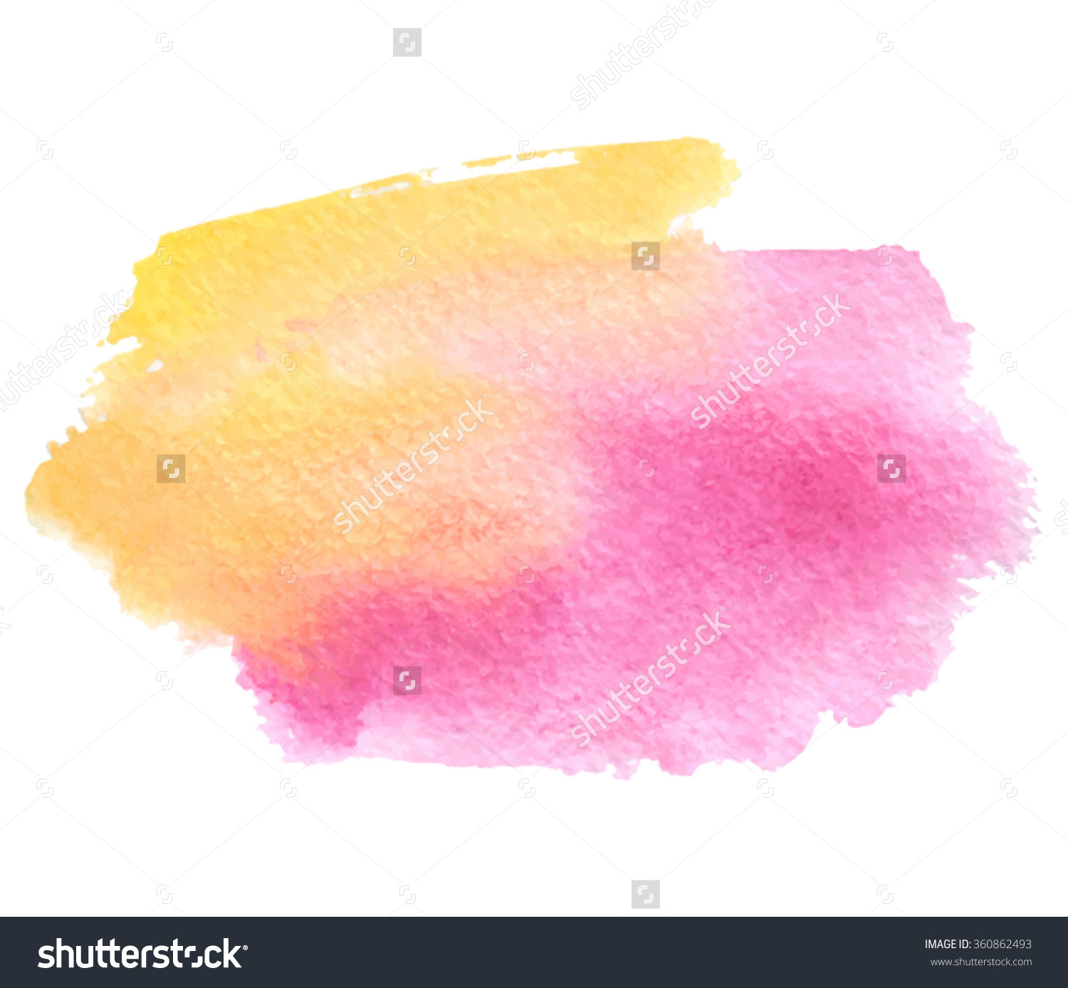 Yellow Pink Orange Watercolor Wet Brush Stock Vector 360862493.