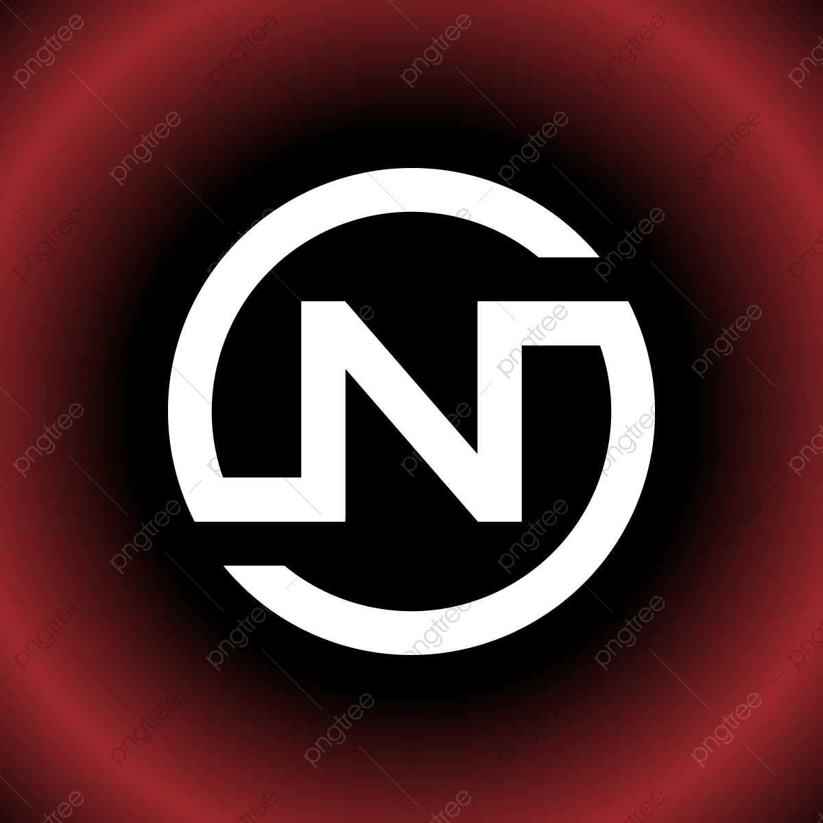 Circular Letter N On Sn Vector Logo Design, Icon, Arrow.