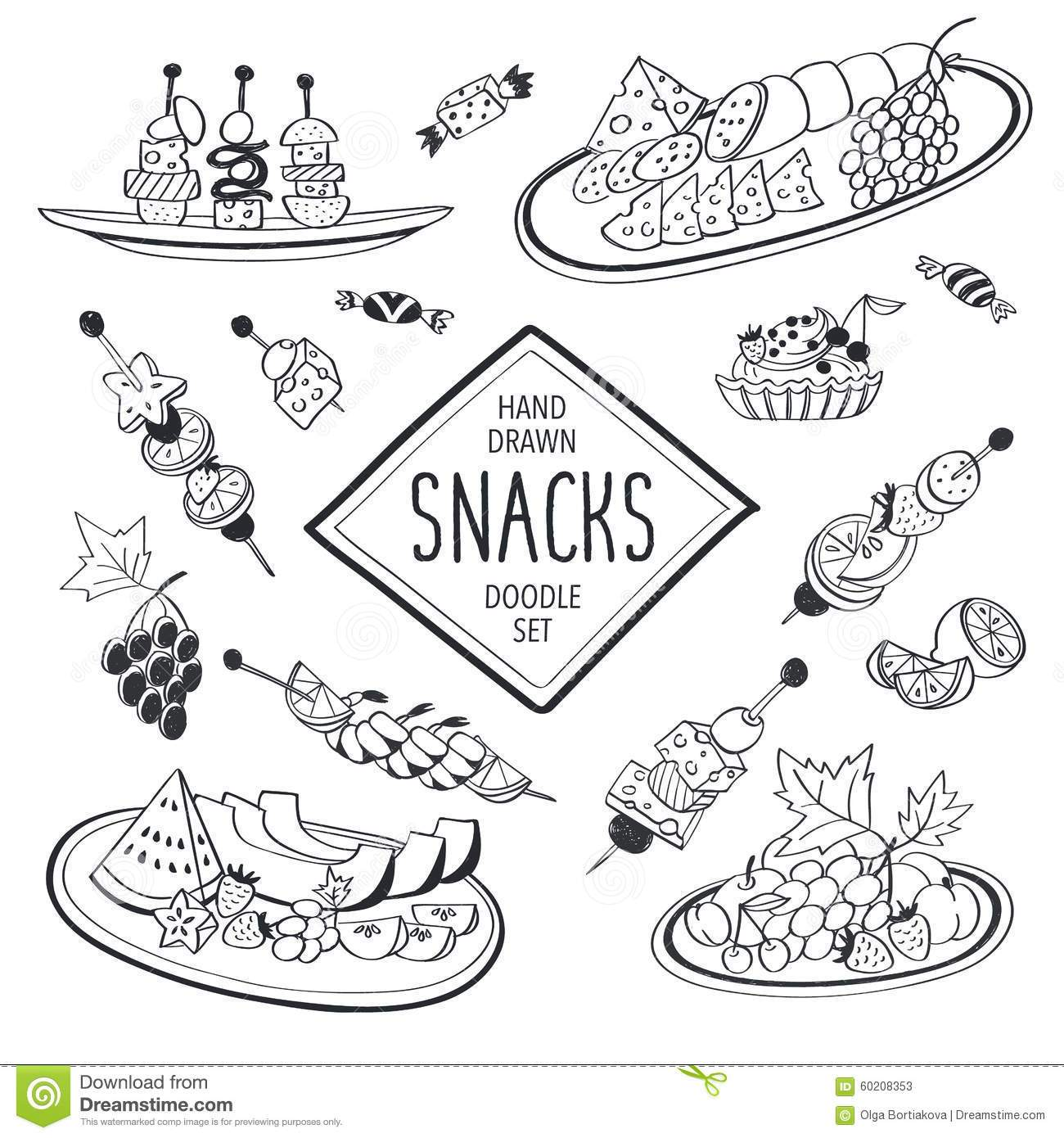 Snacks clipart black and white 3 » Clipart Portal.
