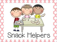 Snack Helper Clipart.