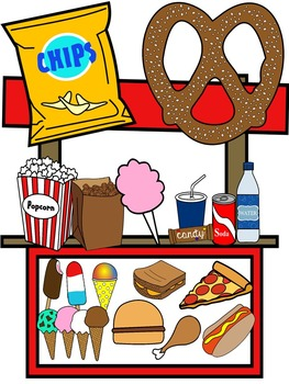 FOOD CLIP ART * SNACK CLIP ART * COLOR AND BLACK AND WHITE.