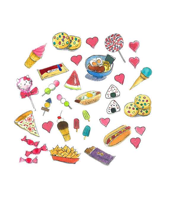 Snacks Clipart Watercolor clipart Printable home by Malachi13.
