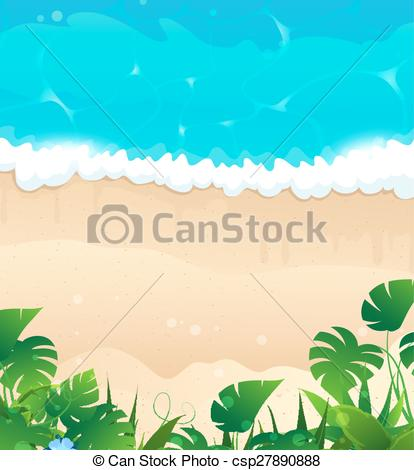 Vector of Tropical ocean shore.