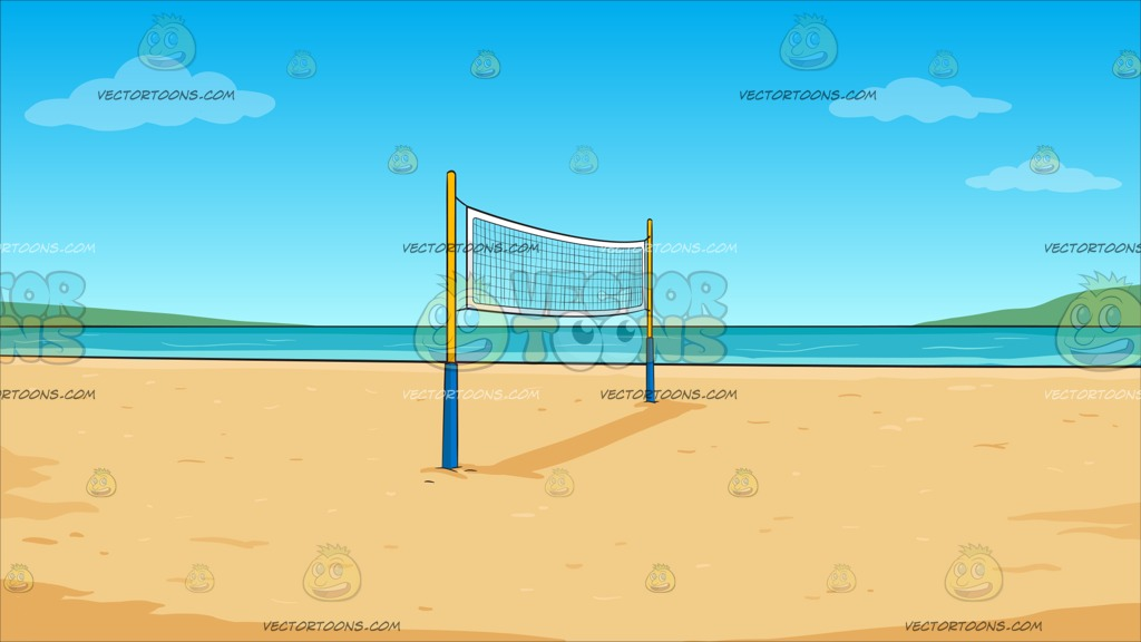 Beach Volleyball Background.