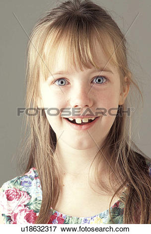 Picture of Smiling Snaggle Toothed Girl u18632317.