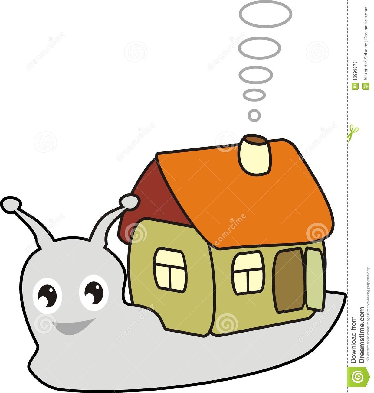 House Snail Clipart.