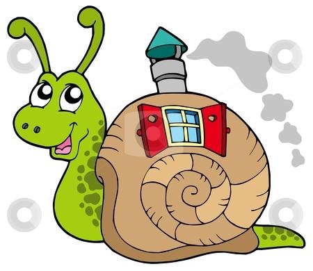 Snail house clipart.