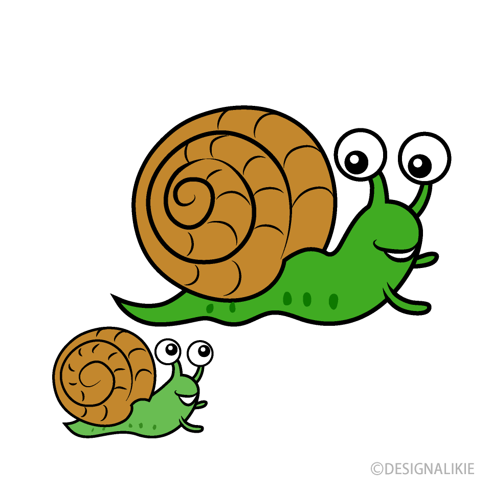Free Parent and Child Snail Clipart Image|Illustoon.