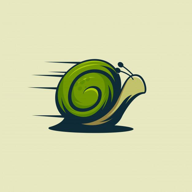 Fast snail logo , animal snail logo Vector.