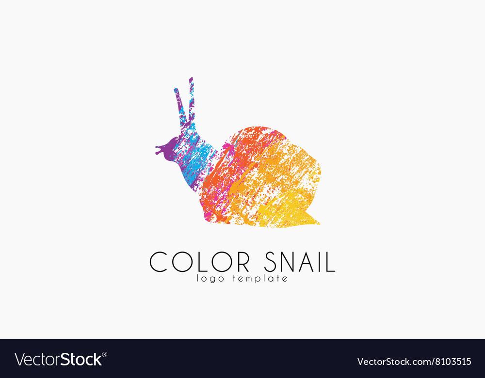 Snail logo Color snail logo Creative logo design.