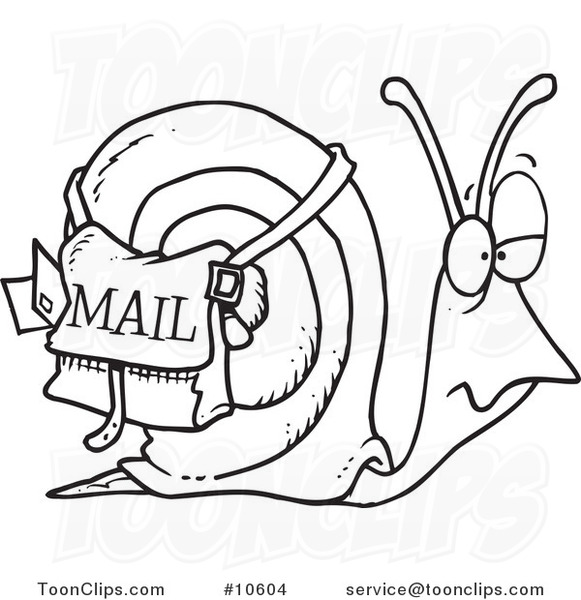 Snail Mail Clip Art N5 free image.