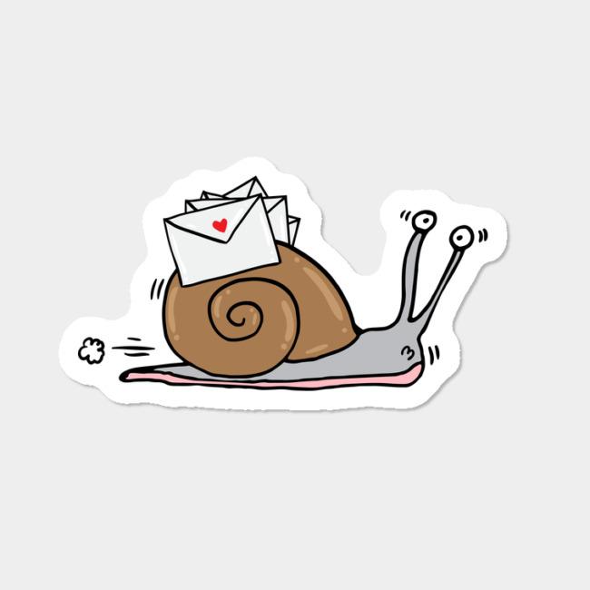 Snail Mail Sticker By Adrianserghie Design By Humans.