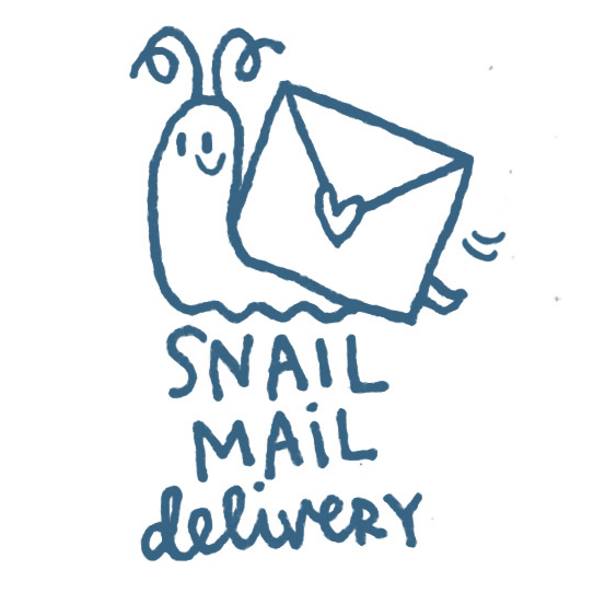 Snail Mail Stamp.