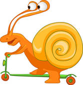 Clipart of A snail k12164275.