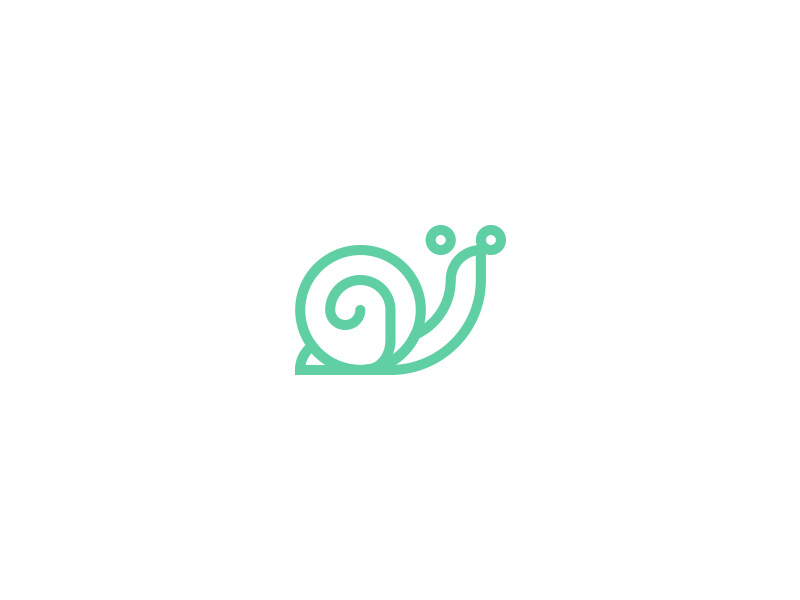 Snail logo by Andres Rigo on Dribbble.