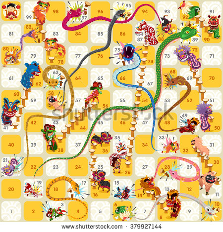 Snakes And Ladders Stock Images, Royalty.