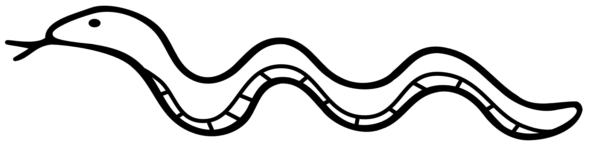 Snake Clipart Black And White.