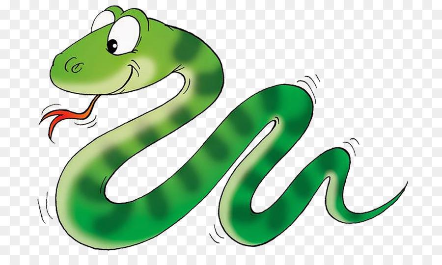 Snakes Clip art Reptile Cartoon Smooth green snake.